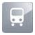 biała ikona autobusu na szarym tle