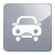 biała ikona samochodu na szarym tle