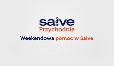 szara grafika z kolorowym napisem weekendowa pomoc w Salve